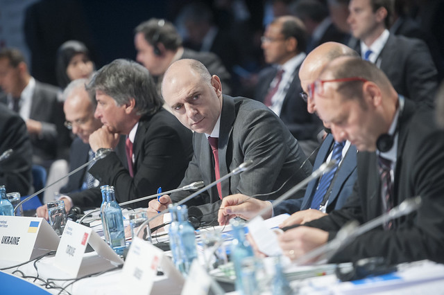 Vladimir Shulmeister attends the session