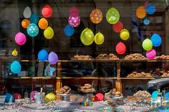 May Day fritters (Poupetta) Tags: window balloons helsinki vappu vappen