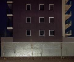 Katowice, Poland. (wojszyca) Tags: city longexposure windows urban building 120 mamiya wall architecture night mediumformat kodak shift epson 6x7 residential katowice portra mundane towerblock generic 160 rz67 75mm 4990 tysiclecie