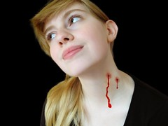 Vampire Bite (Erdbeerchenx3) Tags: cute feet girl fetish neck french toes vampire tinkerbell arches blonde bite heels veins throat soles choke smelly hickey lovebite balletflats strngle
