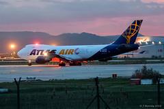 Atlas Air Boeing 747F - N808MC (j.borras) Tags: barcelona airplane air bcn atlas boeing takeoff spotting departing 747f lebl n408mc rwy25r