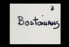 ss23-23 (ndpa / s. lundeen, archivist) Tags: people color film boston handwriting massachusetts nick slide slideshow mass 1970s handwritten bostonians bostonian dewolf titlecard titleslide early1970s nickdewolf photographbynickdewolf slideshow23