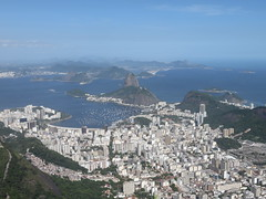 View of Rio, with Sugarloaf, taken from Corcovado (Christ the Redeemer) (vbolinius) Tags: travel brazil christtheredeemer riodejaniero 2016