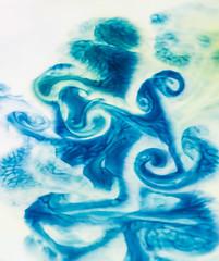 Drawing (Valentina Sokolskaya) Tags: blue abstract color macro milk foodcoloring