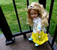 Rain Rain Go Away (marilyntunaitis) Tags: umbrella boots raincoat madamealexanderdoll