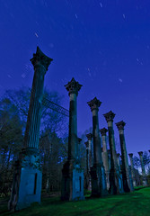 Windsor Ruins (Nocturnal Kansas) Tags: moon night mississippi nocturnal full plantation flashlight led1 protomachines nocturnalkansas