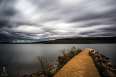 Lysterfield Lakes Storms (Vaughan Laws Photography | www.lawsphotography.com) Tags: longexposure sky lake water clouds canon landscape rocks path australia melbourne hills le storms ndfilter neutraldensityfilter amazingskies longshutterexposure lysterfieldlake canon6d longexposurecolour melbournestorms nd10stop melbournelongexposure lawsphotography vaughanlaws 09052016