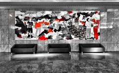 InterConti Lounge Berlin (ANBerlin) Tags: street city red bw white black west color berlin rot apple germany deutschland hotel design blackwhite lounge gray picture conservation grau couch sofa stadt sw salon marble splash bild farbe luxury luxus accent schwarz tiergarten extraordinary intercontinental interconti selective iphone marmor  weis spritzer designe   budapester denkmalschutz strase  akzent keycolor iphotography anb030 iphonography selektiv ausergewhnlich iphone6s 6splus schlsselfarbe