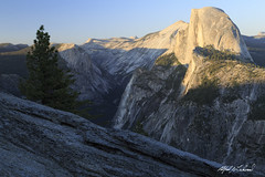 Evening at Half Dome (Alfred J. Lockwood Photography) Tags: california summer mountain nature landscape evening nationalpark yosemite granite halfdome yosemitenationalpark glacierpoint clearsky sierramountains alfredjlockwood