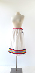1970s Palm Springs Weekend striped wrap skirt (Small Earth Vintage) Tags: white skirt 70s 1970s striped vintageclothing vintagefashion wrapskirt smallearthvintage