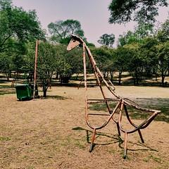Mexican playground - giraffe (StartTheDay) Tags: park holiday verde green playground mexico climb rust mexicocity df rusty giraffe crusty sixties climbingframe chapultepec grun greenbeautyforlife