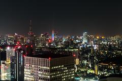 Tokyo Skyline (sechsterangriff) Tags: longexposure urban panorama japan skyline night tokyo cityscape nightshot zoom jp tokyotower  japo tokyometropolitangovernmentbuilding shinjukuku tkyto  sonya7rii sel24240 ilce7rm2