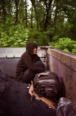 untitled (1 of 7)-2 (Don't Sink) Tags: film america train rainbow kodak air olympus stylus coal rider hobo hopping