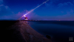 Nightshot lighthouse Marken #1 (Bart Ros) Tags: travel pink light lighthouse night canon dark purple nh marken