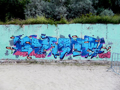 Oscar x2 (osckr) Tags: summer streetart art beach graffiti design oscar paint spray bulgaria vibes kavarna