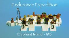 Endurance Expedition - 1916 (legophthalmos) Tags: elephant history island lego anniversary ernest exploration shackleton 1917 antaractic
