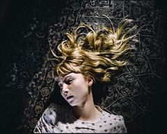 untitled (Esben Bg) Tags: sun girl mediumformat hair denmark golden floor kodak 400 6x7 portra 120mm mamiya7