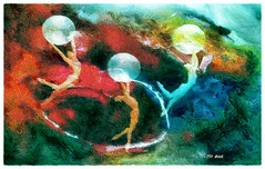 Planetary Gravity - La Gravedad Planetaria (Leo Bar) Tags: painting colors creative sensual spheres planets universe texture relief leobar pixinmotion dance digitalart danza esferas awardtree