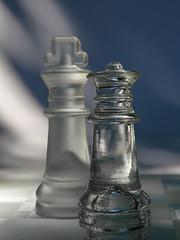transparent / opaque - opposites - Macro Mondays (Luana 0201) Tags: macromondays opposites light shadow transparent opaque feminine masculine queen king she he chess blue