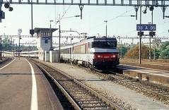 15042  Basel  13.10.01 (w. + h. brutzer) Tags: basel eisenbahn eisenbahnen train trains frankreich france railway elok eloks lokomotive locomotive zug 15000 sncf webru analog nikon