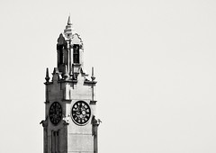 Clock tower (vinnie saxon) Tags: clock tower oldport montreal minimilism blackandwhite monochrome nikoniste nikon