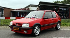 Peugeot 205 GTI 1.9 1993 (XBXG) Tags: hbrv78 peugeot 205 gti 19 1993 peugeot205 franse auto dag fad16 visscher culemborg nederland holland netherlands paysbas old classic french car automobile voiture ancienne franaise france frankrijk red rood rouge