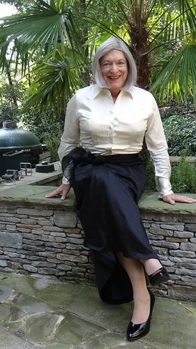 Long Black skirt outside