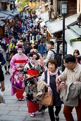 Tourists as Geisha (VariedReflections) Tags: kyoto japan japanese geisha maiko geiko tourists dressup costume henshin ninenzaka higashiyama travel travelogue culture