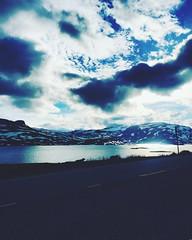Haukeli (sveinmagnekrokå) Tags: haukeli sky sun snow water nature sheep view nice roadtrip mountain norway