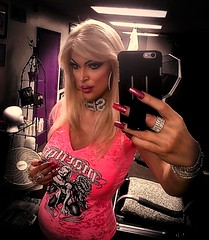 Little pink top, selfie (Juliapanther Over 28 million views, thanks!!!) Tags: julia panther juliapanther blond blonde pink top model posing selfie portrait goth gothic rhinestones necklace makeup lips lipstick marlin monroe people