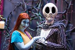 Jack Skellington and Sally (jodykatin) Tags: jackskellington sally disneyland facecharacter nightmarebeforechristmas