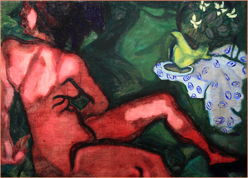 """Le nu rouge"" ""Red nude"" 1909 Marc Chagall"