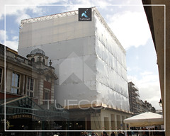 Jubilee Market Hall scaffold encapsulation - Tufcoat Shrink Wrap