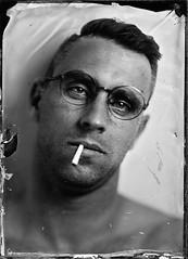 Kuba (Maciek Lesniak) Tags: man male glasses ambrotype wetplate largeformat 13x18 zeisstessar30045