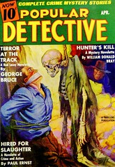 Popular Detective Vol. 10, No. 3 (April, 1937). Cover by Unknown Artist (lhboudreau) Tags: mystery magazine skeleton coverart pulp magazines pulpmagazine pulpcover magazineart 1937 magazinecover detective magazinecovers pulpmagazinecovers colorart pulps pulpcovers vintagemagazine detectivestories vintagemagazines pulpart pulpmagazines pulpmagazinecover georgebruce populardetective april1937 crimemystery paulernst vintagepulpmagazine thrillingpublication vintagepulpmagazines volume10number3 terroratthetrack hiredforslaughter hunterskill crimemysterystories williamdonaldbray