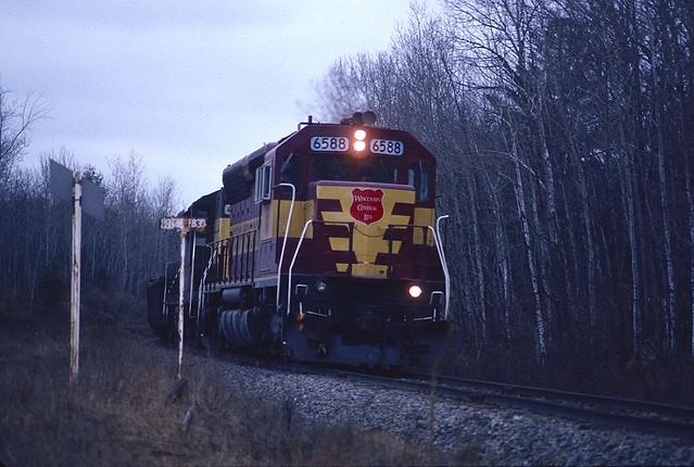 railroad film wisconsin train pentax wc ladysmith northwoods wisconsincentral sd45 emd flambeaucoppermine