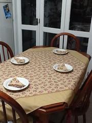 Toalha de mesa (ceciliamezzomo) Tags: flores kitchen print table handmade tan polka dot toalha cloth patchwork mesa canto cozinha bege florido estampa flowered po mitrado