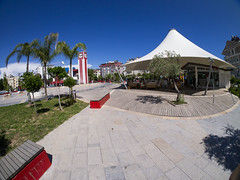 Park, or a Square? (ErdenizS) Tags: park blue pen cityscape olympus fisheye antalya ep3