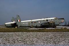 WR961 - Shackleton MR.2C - ex-Royal Air Force - Kemble / 5 Maintenance Unit - 16-Feb-78 (THE Graf Zeppelin) Tags: raf avro kemble royalairforce 5mu wrecksandrelics 19780216 5maintenanceunit shackletonmr2c wr961