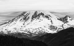 The Spirit of the Mountain (John Westrock) Tags: blackandwhite landscape mountain mtrainier volcano contrast pacificnorthwest canoneos5dmarkiii canonef100400mmf4556lisusm johnwestrock monochrome washington