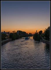 fahrt in die Nacht (rapp_henry) Tags: sunset river nikon ship sonnenuntergang bridges bamberg franken brcke fluss schiff d800 blauestunde 2470mm28