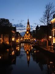 Blue hour  Alkmaar, waagtoren   ***in Explore*** (peeteninge) Tags: city holland night outside bluehour avond alkmaar