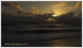 Beach Sunrise... My senses fool me everyday! I swear that my eyes tell me the sun is moving up and across the sky.