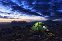 Assynt Wild Camp (bradders29) Tags: camping sunset mountains clouds scotland tent corbett suilven assynt wildcamp quinag culmor canisp grahambradshaw