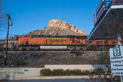 Northbound BNSF at Castle Rock (Michael Karlik) Tags: mountain castle rock train colorado hill front line coal range freight bnsf joint