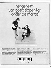 Auping ad 1969 (Tompouce6) Tags: sleeping 1969 magazine bed 60s reclame ad dormir mattress sixties slaapkamer margriet matras auping damesblad