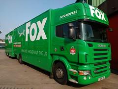 Fox Group Moving and Storage Ltd Scania R310 CN08 FBD (5asideHero) Tags: truck moving group storage fox removal ltd scania topline drawbar fbd cn08
