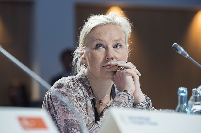 Anna Johansson at the Closed Ministerial Session