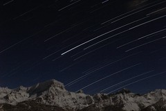 Startrails (David K. Marti) Tags: blue winter sky white mountain snow mountains alps color colour nature rock night season stars landscape outside outdoors countryside scenery europe european nocturnal natural outdoor top country seasonal scenic alpine colored startrails mountainscape mountainpeak