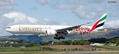 A6-EPA BOEING 777-31HR (douglasbuick) Tags: plane scotland football airport nikon flickr dubai glasgow aircraft aviation jet landing emirates boeing airways airlines airliner livery d40 egpf a6epa 77731hr